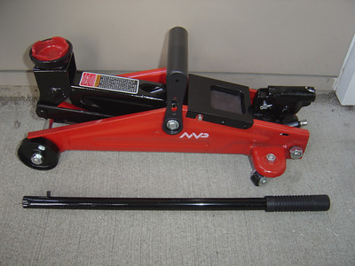 This is a small floor jack that is small and light enough to useful with a PUP