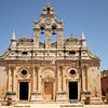 Venetian baroque church inside the Arkadi monastery.