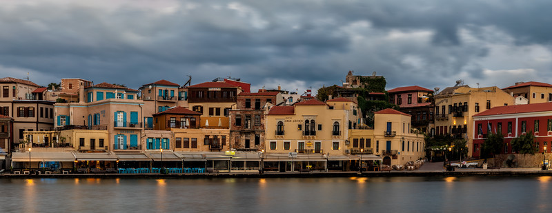 Chania Old town panorama