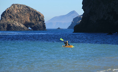 Kayaker, Scorpion Bay.   w_1486