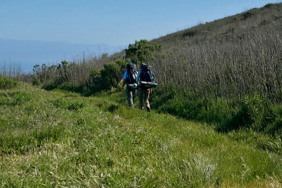 Campers on the Del Norte trail. 0411_1789