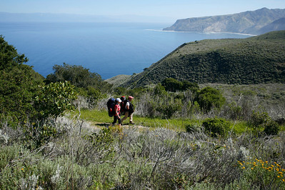 Backpackers on the Del Norte trail heading for Scorpion. 0411_1838