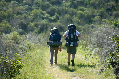 Backpackers on the Del Norte trail to Scorpion. 0411_1814