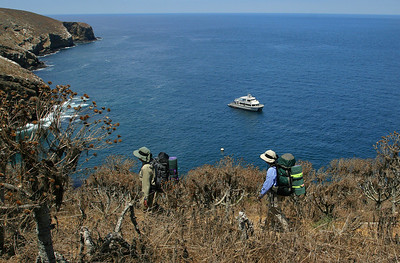 SBI, campers above landing cove and Island Packers. sIMG_6546