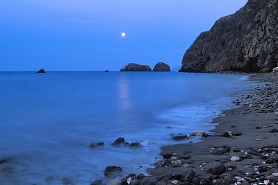 Moonrise over Scorpion Rocks, Santa Cruz Island