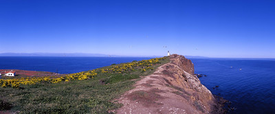 East end of East Anacapa, with lighthouse and buildings