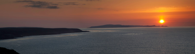 Sunset with San Miguel Island in the background, Santa Rosa Island