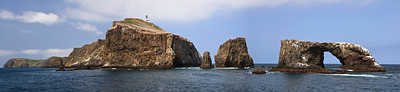Arch Rock and lighthouse, Anacapa Island