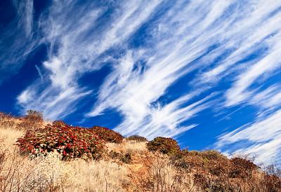 Cloud formations, Santa Cruz Island