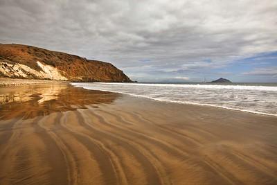 Smuggler's Cove, Santa Cruz Island.  Anacapa Island visible in background.