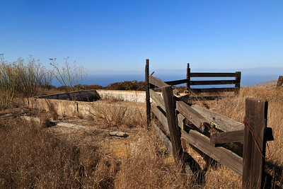 Abandoned water trough, reminiscent of past ranching days on the island.