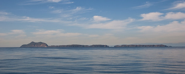 Approaching Anacapa Island from the south