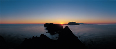 Channel Islands National Park, Anacapa Island, Inspiration Point, sunset