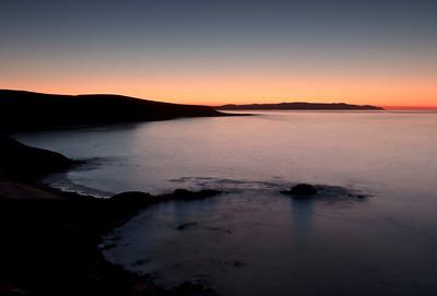 Tyler Bight at sunrise.  Santa Rosa Island in far distance.