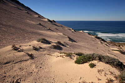 Sand dunes leading down to Simonton Cove