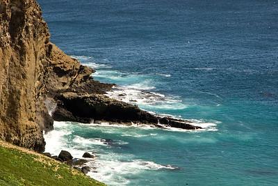 Steep cliffs near the Sea Lion Rookery