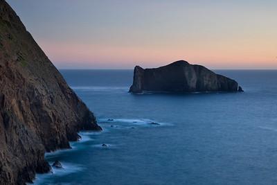 Sutil Island below Signal Peak, evening light.