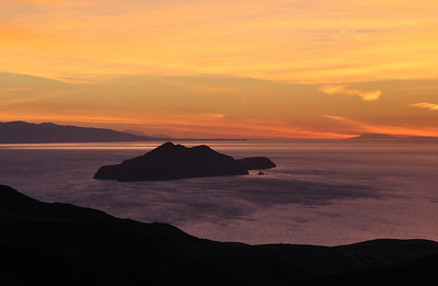 Isthmus - Anacapa Island viewed from isthmus, sunrise