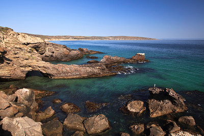 Pristine water and rugged coast at Black Rock