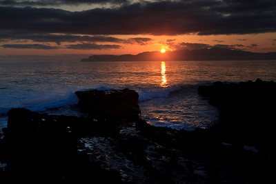 Carrington Point sunrise.  Santa Cruz Island in the background.