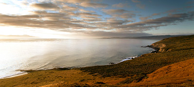 Carrington Point sunrise.  Skunk Point in the background, Santa Cruz Island visible on the far left..