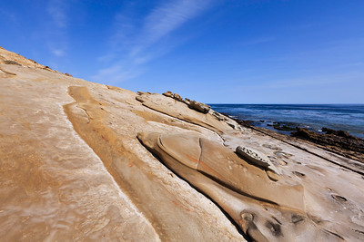 Interesting rock formations along the south coast near Johnson's Lee