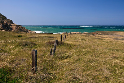Remnants of ranching days on Santa Rosa Island near the mouth of Lobo Canyon