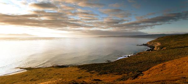 Carrington Point sunrise.  Skunk Point in the background, Santa Cruz Island visible on the far left..