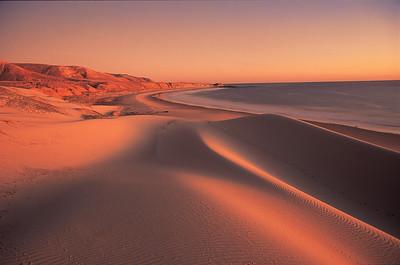 China Camp beach, sunset