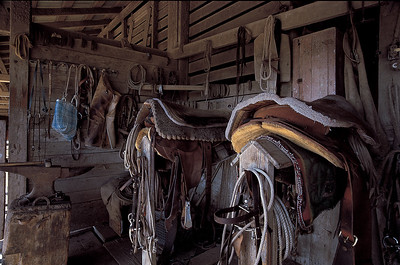Tack shop.  Mexican vaqueros often fashioned their own rope, saddles, and bridles.