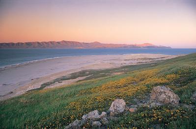 Skunk Point sunset, Santa Cruz Island in background