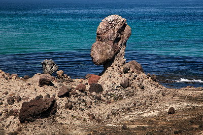 Unusual rock formation near Skunk Point