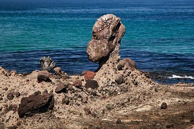 Unusual rock formation near Skunk Point