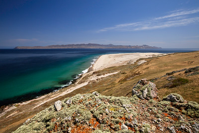 View of Skunk Point.  Santa Cruz Island in the background.