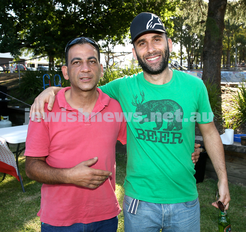 Chanukah on the Green combined North Shore shules Chanukah Party. Chaim Saada (left)  & Achikam Cohen. Pic Noel Kessel