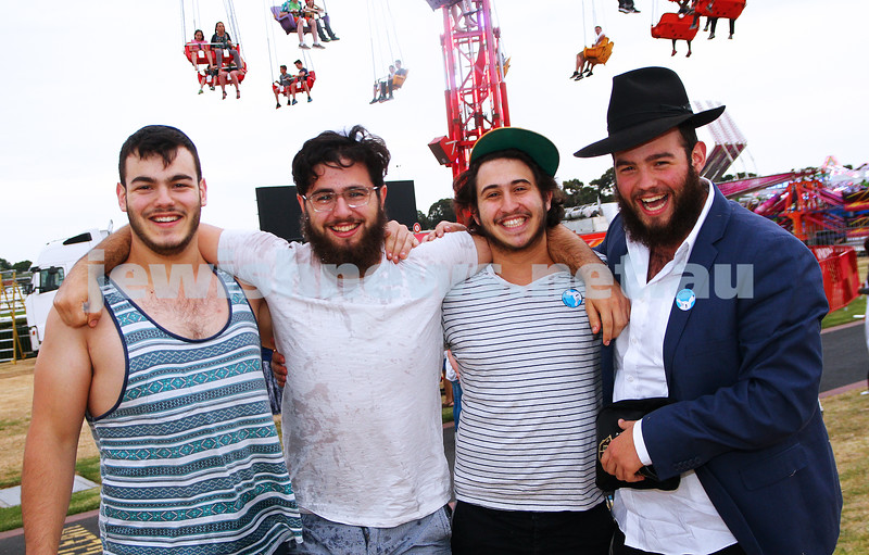 6-12-15. Thousands of people flocked to Chabad's Caulfield's first Chanukah at Caulfield Racecourse to be entertained by rides, the circus, music and the lighting of  the menorah. Photo: Peter Haskin