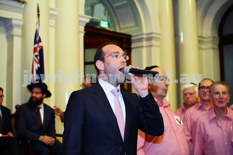 16-12-14. Chanukah at Queens Hall, Parliament House. Dov Farkas. Photo: Peter Haskin