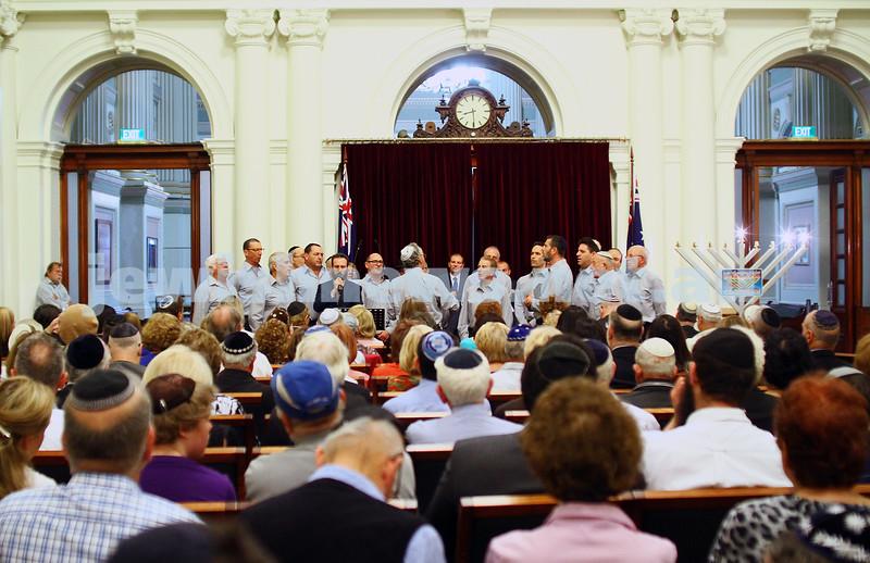 7-12-15. Chanukah at Victorian Parliament House.  Photo: Peter Haskin