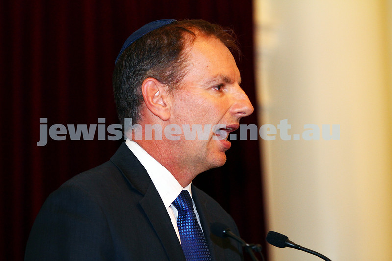 7-12-15. Chanukah at Victorian Parliament House.  Photo: Peter Haskin
