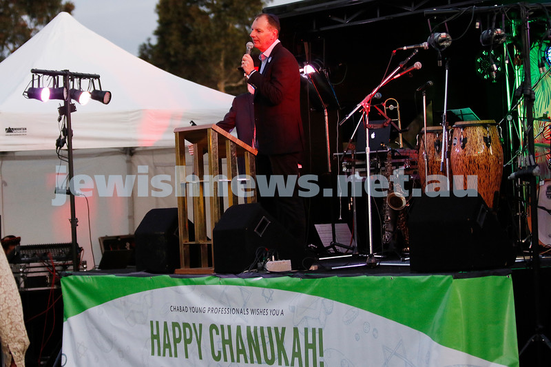 2-12-18. Chanukah in the Park. Caulfield Park. David Southwick. Photo: Peter Haskin