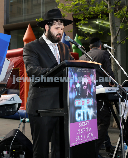 Chanukah in Martin Place. Pic Noel kessel.