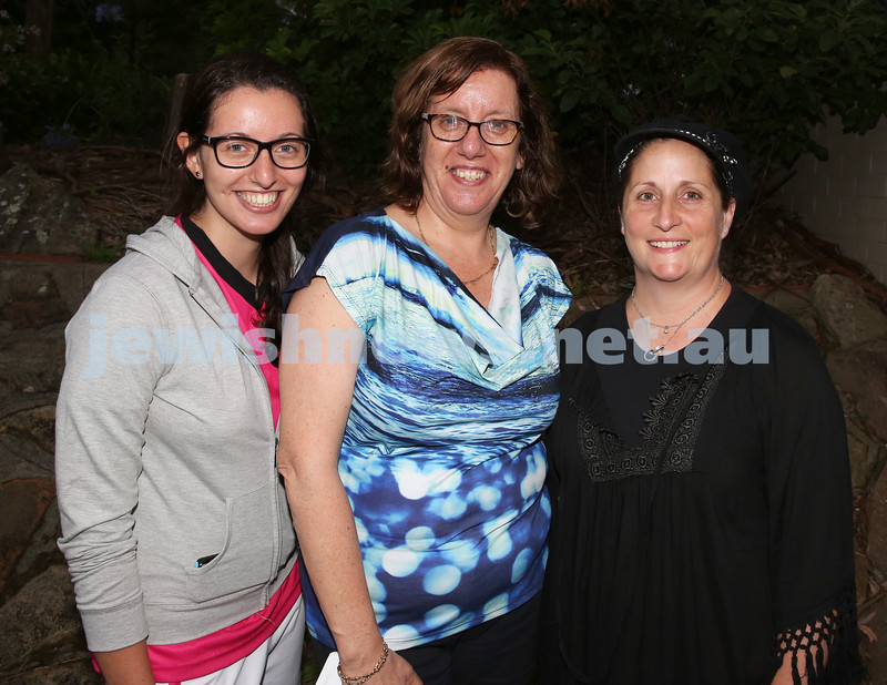 North Shore Synagogue's Youth Chanukah Party. Vanessa Joffe, Debbi Joffe, Talya Lewin.