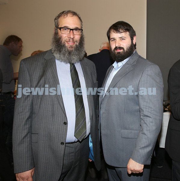Waverley Council Chanukah Party. Rabbi Mendel Kastel & Rabbi Elimelech Levy.