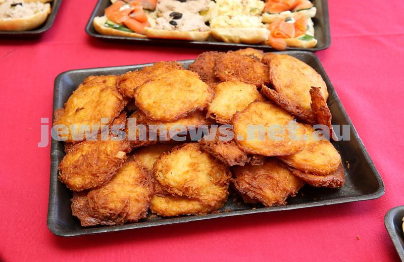 Waverley Council Chanukah Party. Yummy Latkes.