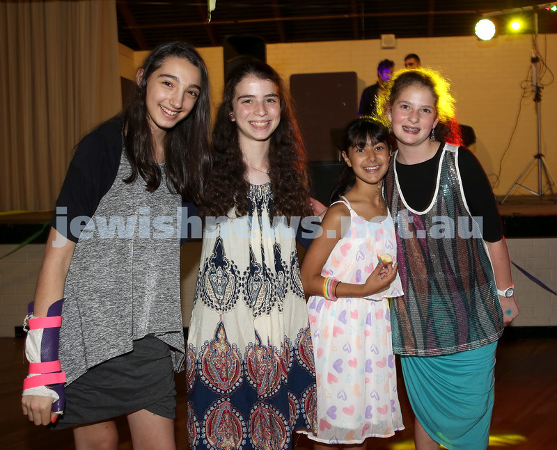 North Shore Synagogue's Youth Chanukah Party. Bailey Yoshia, Romi Grauman, Hannah Otmy, Dania Lewin.