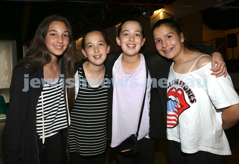 North Shore Synagogue's Youth Chanukah Party. Becky Gurevich, Jemma Leber, Lara Leber, Shani Ieeremias.