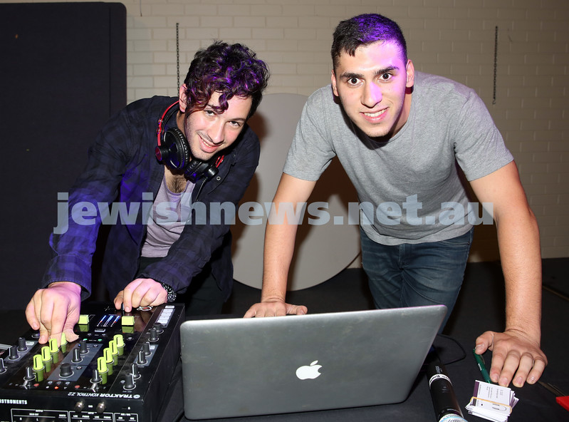 North Shore Synagogue's Youth Chanukah Party. DJs Zac Lee & Josh Cesana.