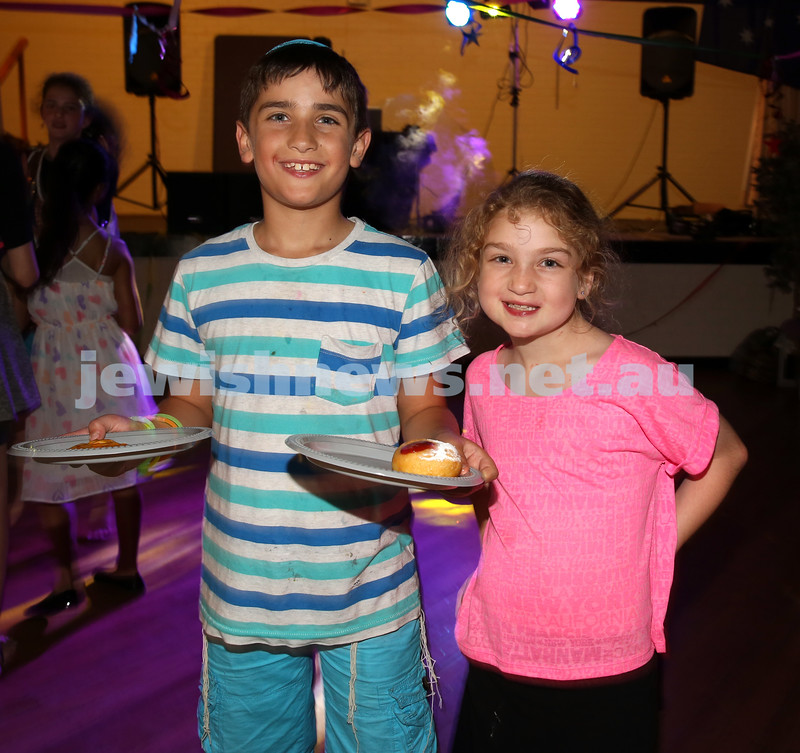 North Shore Synagogue's Youth Chanukah Party. Yoni & Gila Lewin.