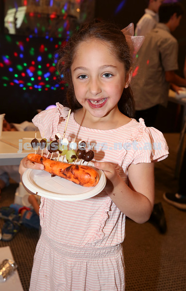 Nefesh Chanukah Party. Laila Feiglin with her Chanukia.