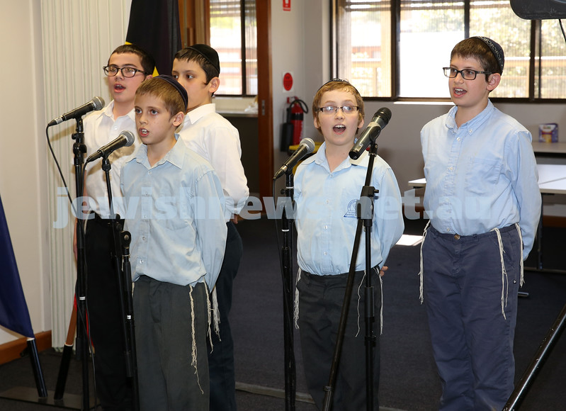 Waverley Council Chanukah Party. Yeshivah College Boys Choir.